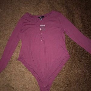 Women's (NWOT) plus size 2X Long-sleeve Bodysuit